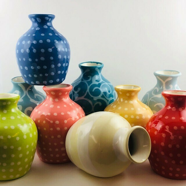 Lacey Itty Vase (Dots/Swirls/Stripes)