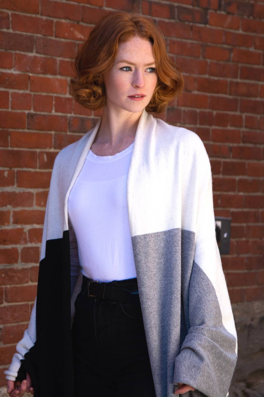 Tri Color Cashmere Blend Travel Wrap