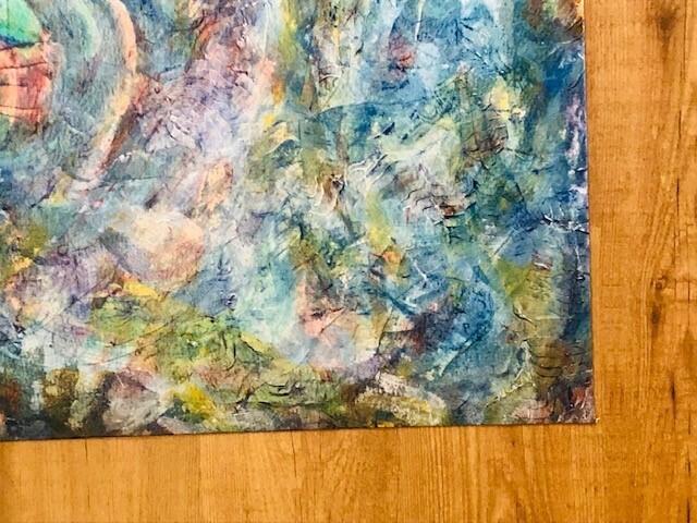 Macurdy Floorcloth (29.5X55) Blue/Bright Mix