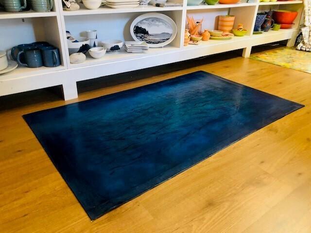 Macurdy Floorcloth (33.25X55.5) Deep Blue