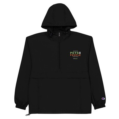 Keeping Pets and People Together Embroidered Champion Packable Jacket