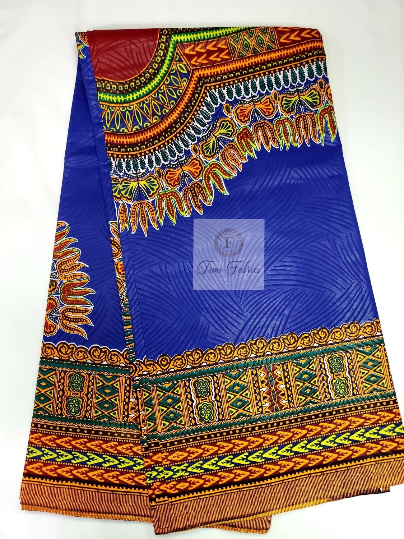 Blue Angelina Ankara/African Fabric