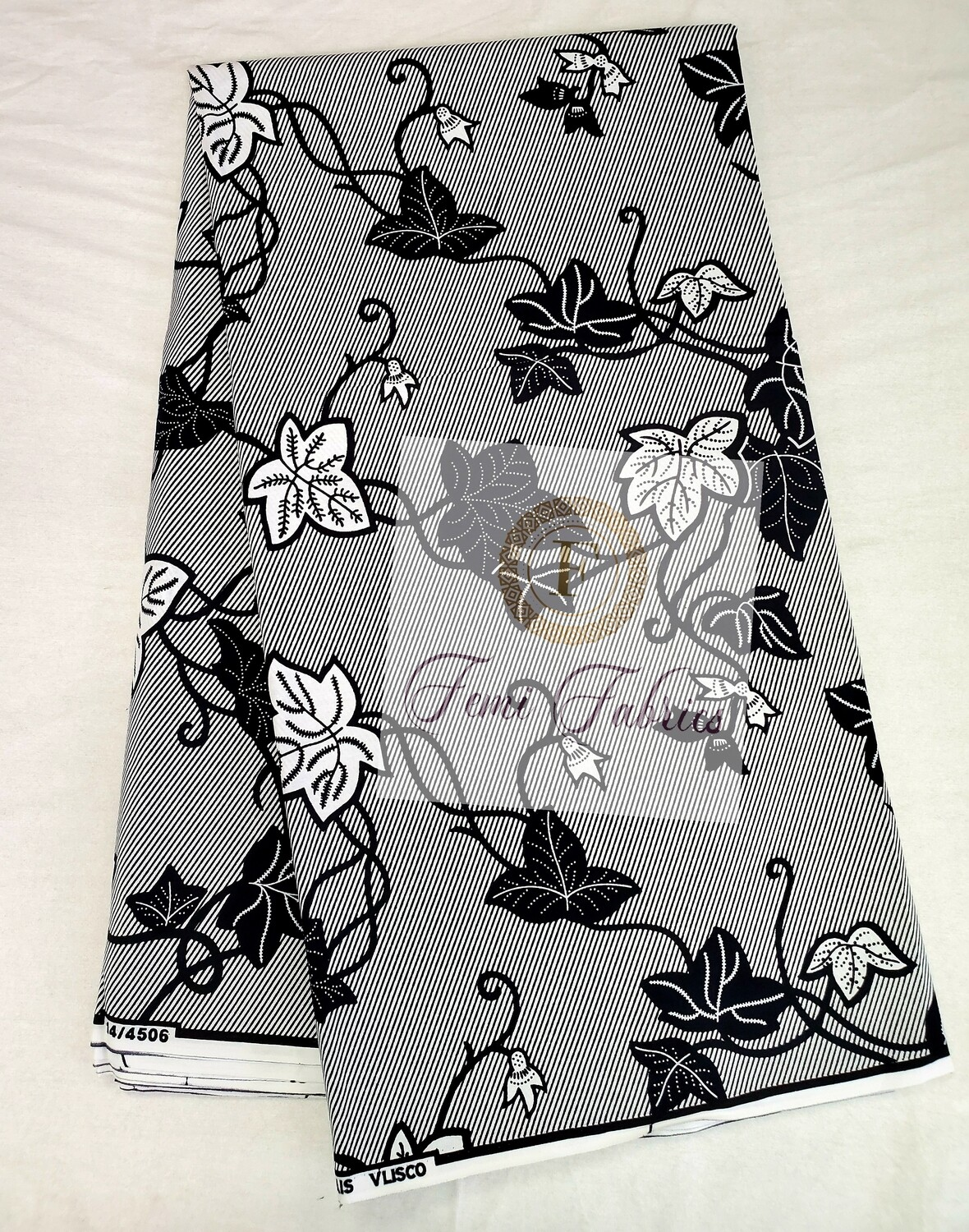 Black & White Vines/Ankara/African Fabric