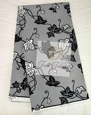 Black & White Vines/Ankara/African Fabric