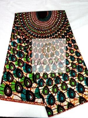 Green Giant Ripple Ankara/African Print Fabric