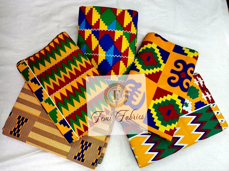 Scrap Pack-  KENTE/Ankara/African Fabric