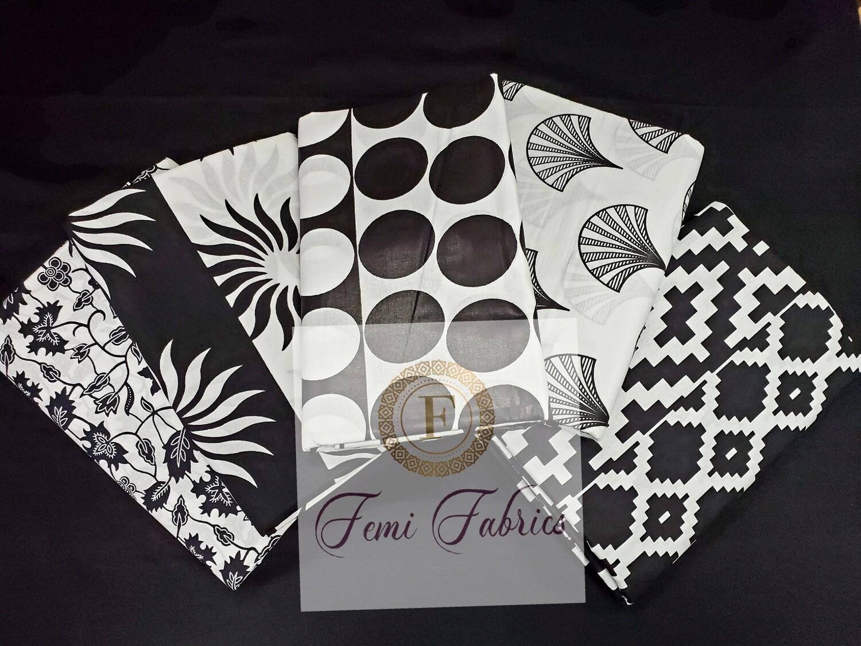 Scrap Pack-  BLACK/Ankara/African Fabric