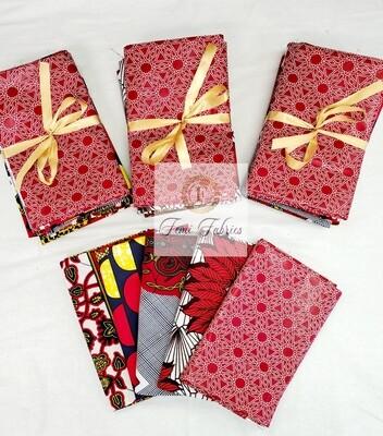 Scrap Pack- RED/Ankara/African Fabric