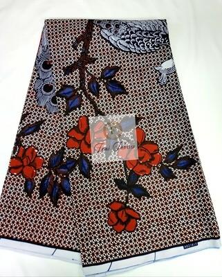 Blue Denim Peacock Ankara/African Print Fabric