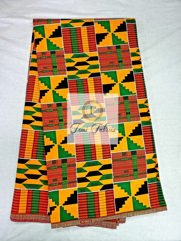 Classic Summertime Kente Print/Ankara African Wax