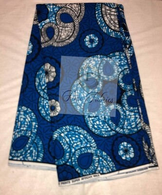 Blue Grey Nile Ankara/African Print