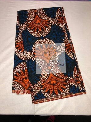 Royal Blue Fan Fare Ankara/African Print Fabric