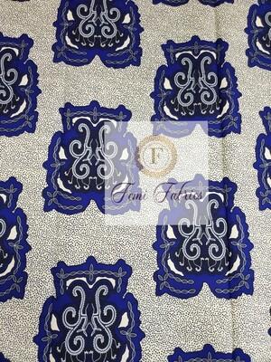 Blue Turtoise Ankara/African Fabric