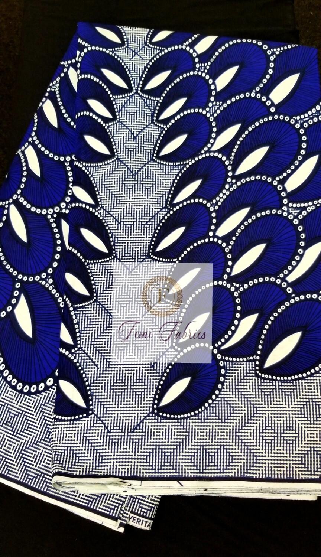 Blue Spread Wings/Ankara/African Wax Fabric