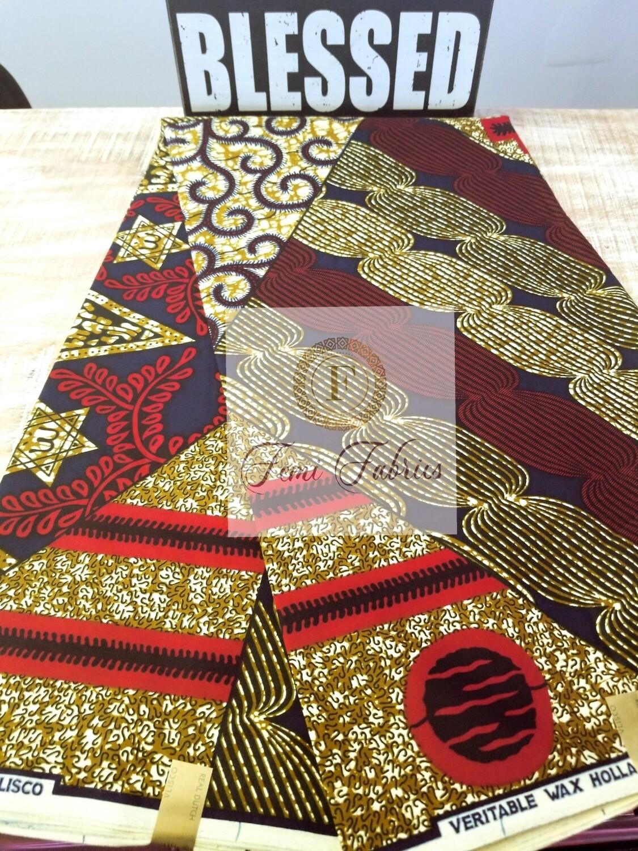 Red Brick Patchwork/Ankara/African Print