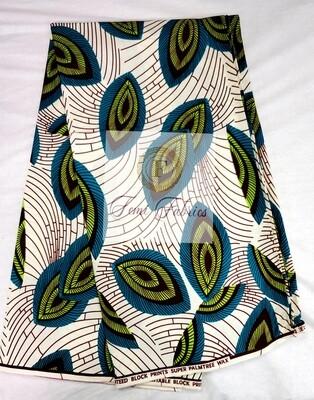 Green Fern Gully/Ankara/African Print