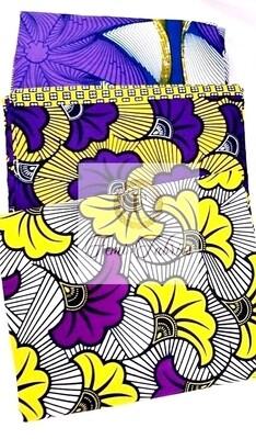 Purple 3 Piece Combo Ankara/African Print Fabric