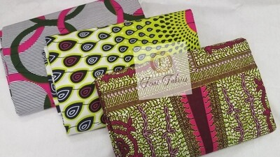 Green 3 Piece Combo Ankara/African Print Fabric
