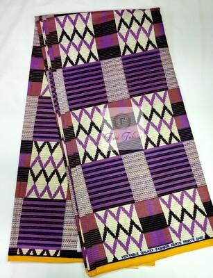 Purple Passion Kente Print Ankara/African Fabric
