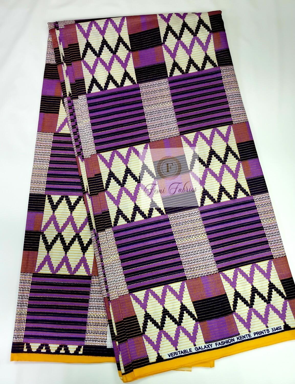 Purple Passion Kente Print/Ankara African Wax