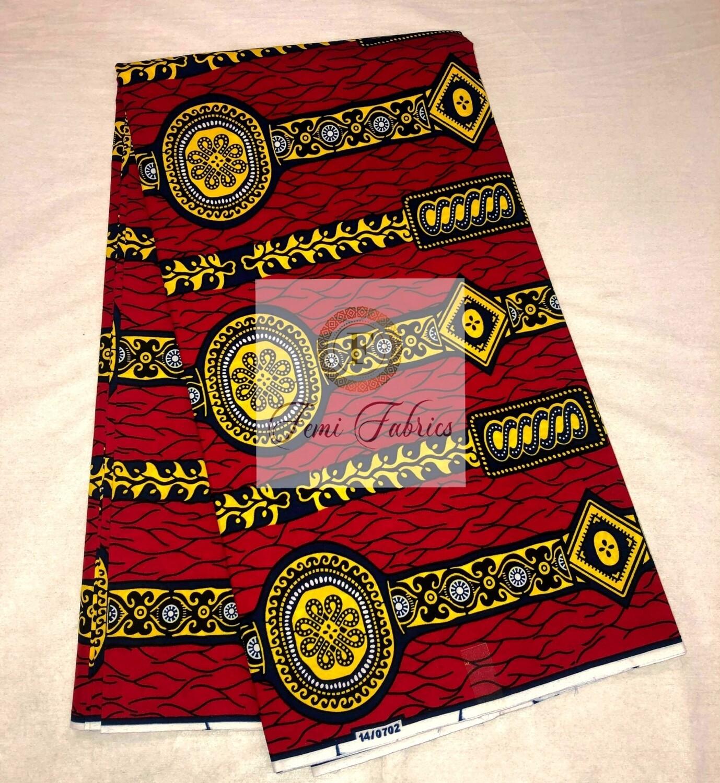 Red Regal Courtyard/Ankara/African Fabric