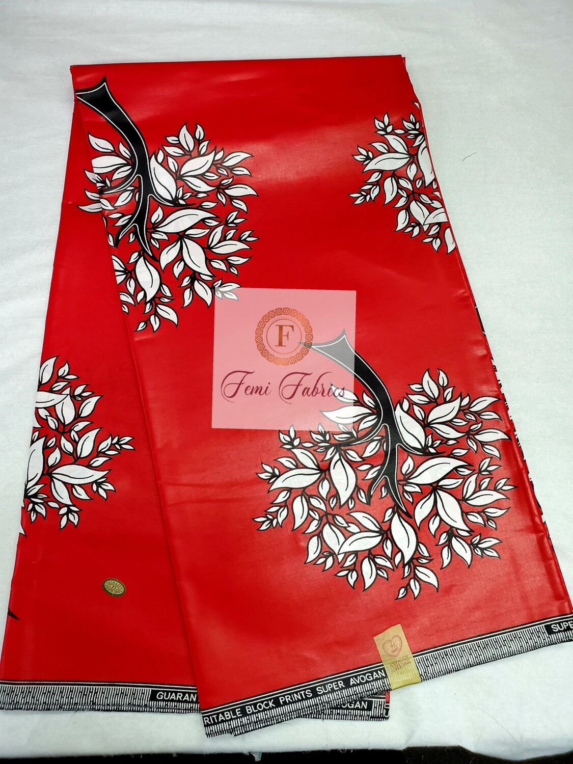 Red White Forest Ankara/African Print