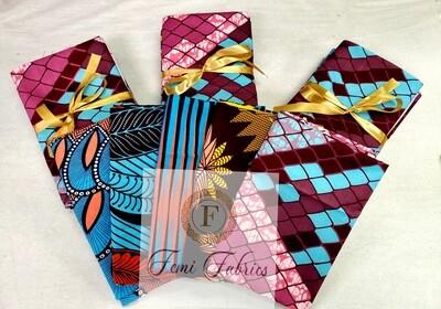 Scrap Pack-  CORAL/Ankara/African Fabric