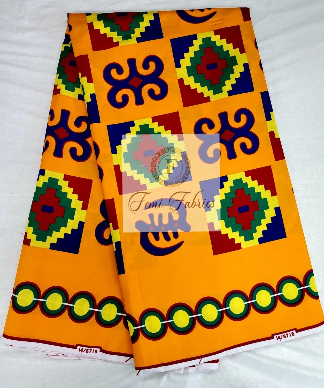 Tribal Print Classic Kente/Ankara/Wax Fabric