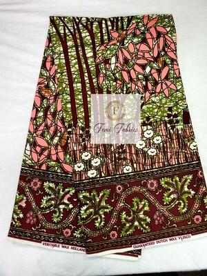 Pink Green Jungle/Ankara/African Print Fabric