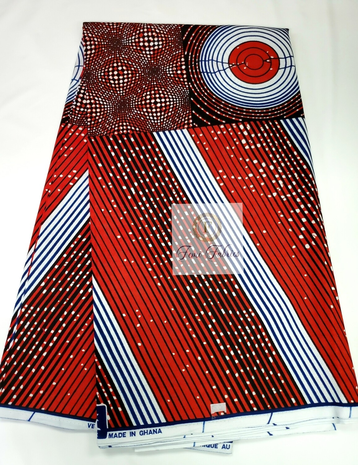 Red Spindle/Ankara/African Fabric