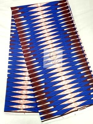 Blue Coral Electrical/Ankara/African Print Fabric