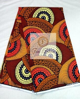 Copper Wheels/Ankara/African Fabric