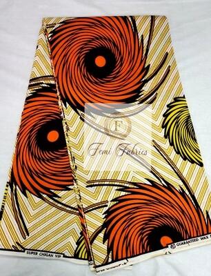 Burnt Orange Twister/Ankara/African Fabric