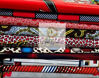 Colorway Design Pack Red1/Ankara/African Fabric