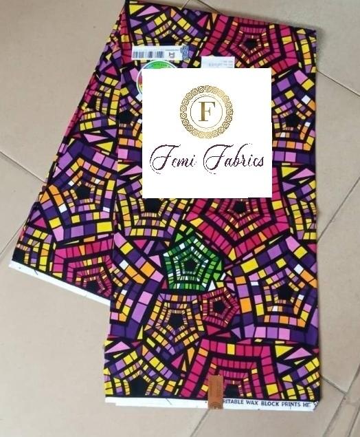 Purple Kaleidescope Print Ankara/African Fabric