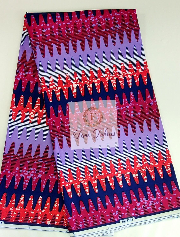 Purple Electrical/Ankara/African Print Fabric