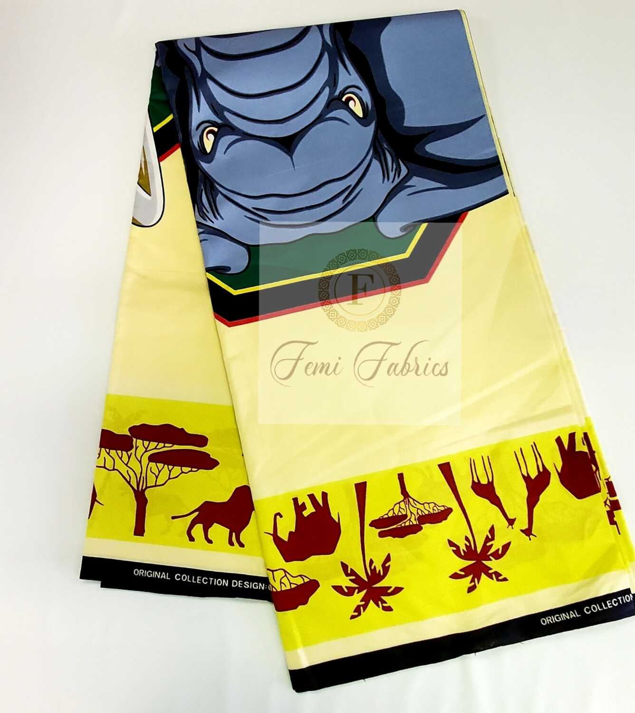 Elephant Rage/Ankara/African Fabric