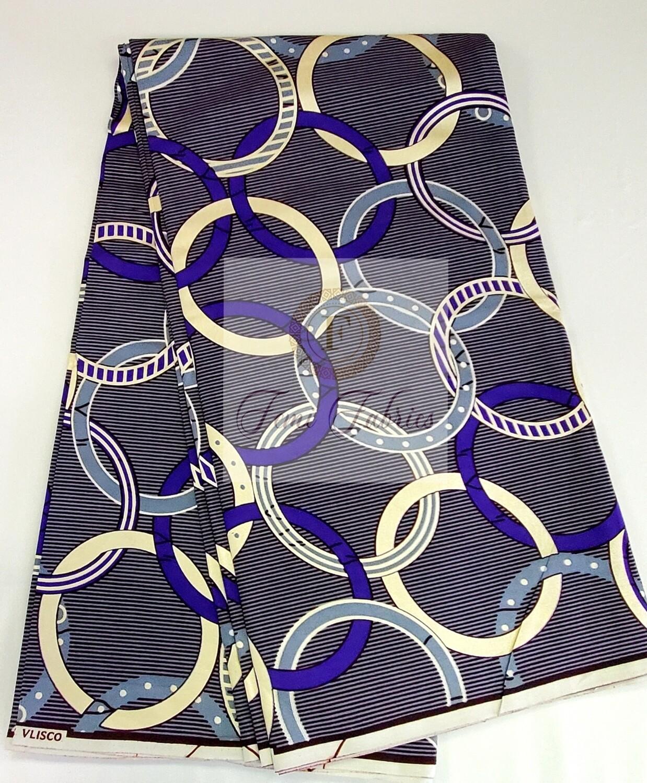 Purple Shimmer Cream Olympics/Ankara/African Fabric