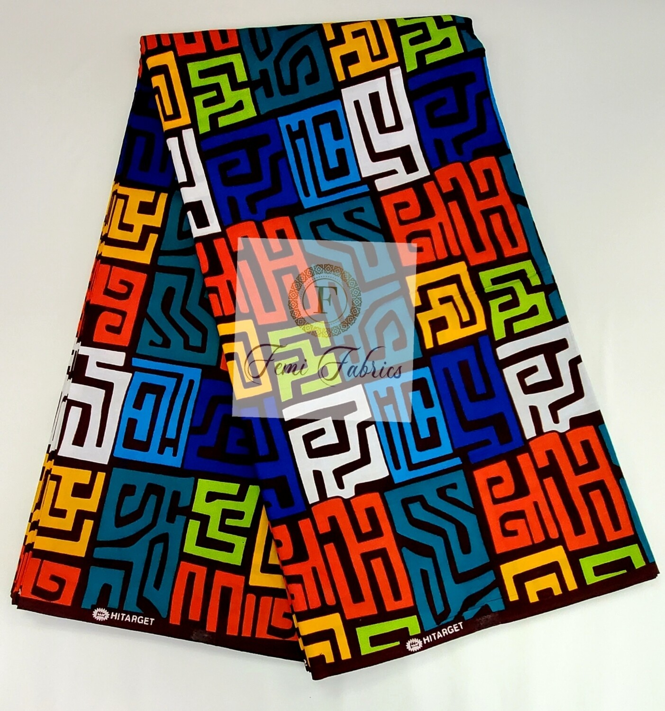 Black & White Chesser/Ankara/African Fabric