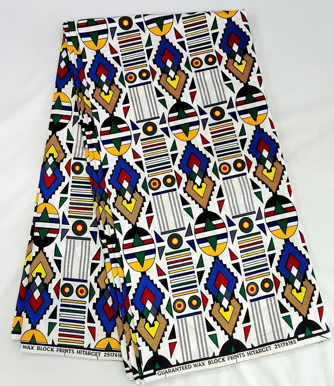 Kente White/Ankara/African Fabric
