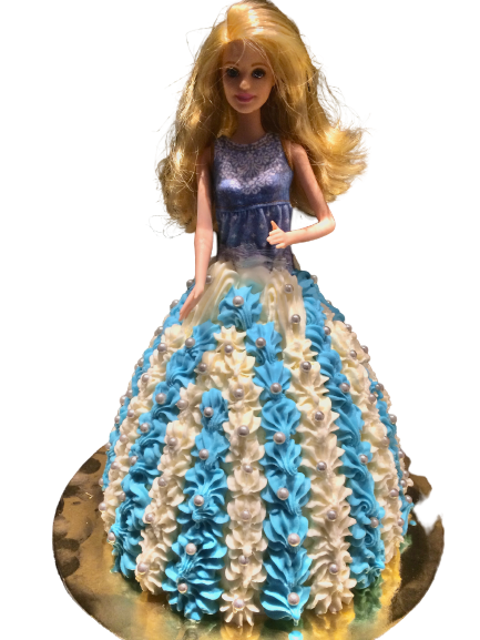 Barbiepop IJstaart Blauw