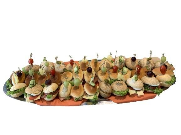 Klassiek & Luxe Gemengd Belegde Mini Broodjes