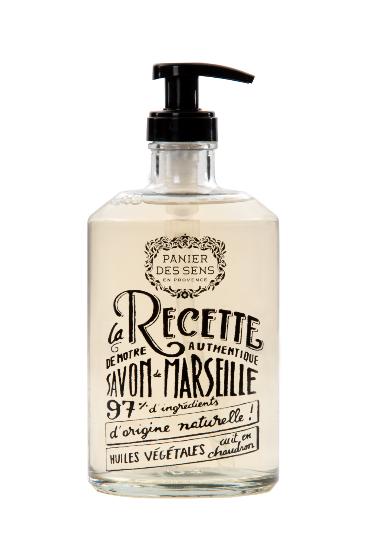 Glazen fles Vloeibare Marseillezeep 500 ml Provence