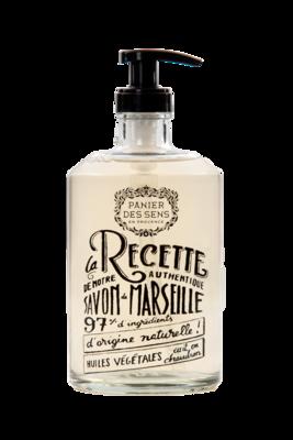 Glazen fles Vloeibare Marseillezeep 500 ml Roos