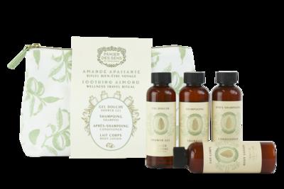 Toilettasje Amandel Shower gel, Shampoo en Balsem