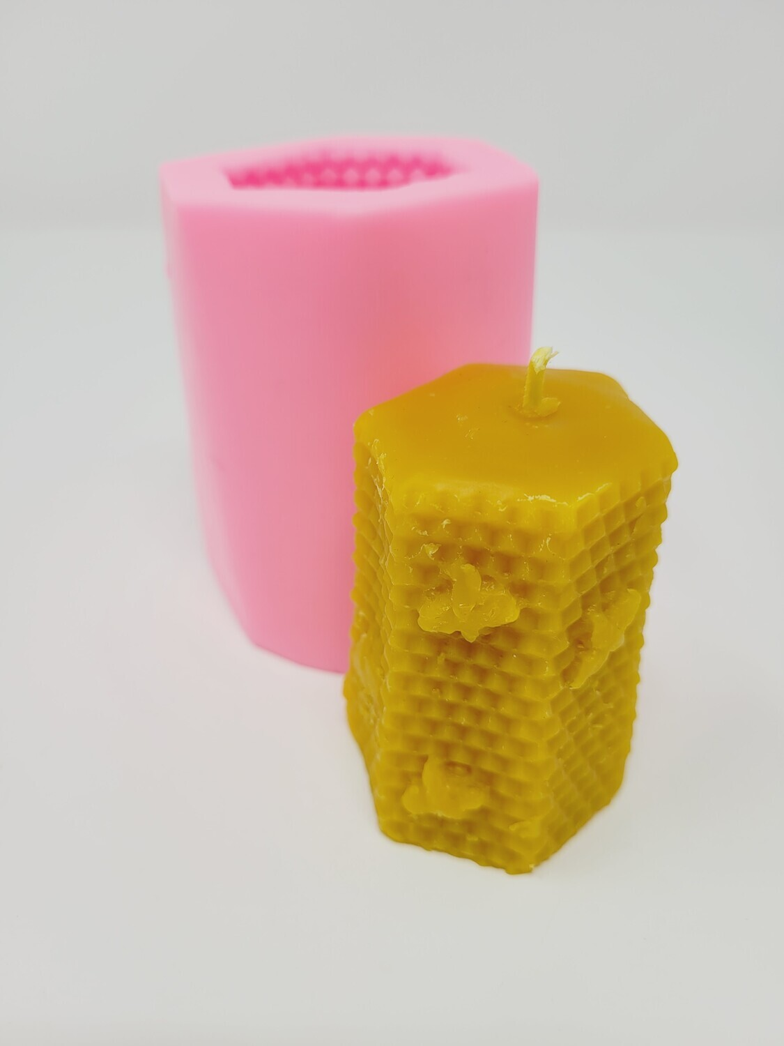 Silicon Mould Candle - Hexagonal Bees