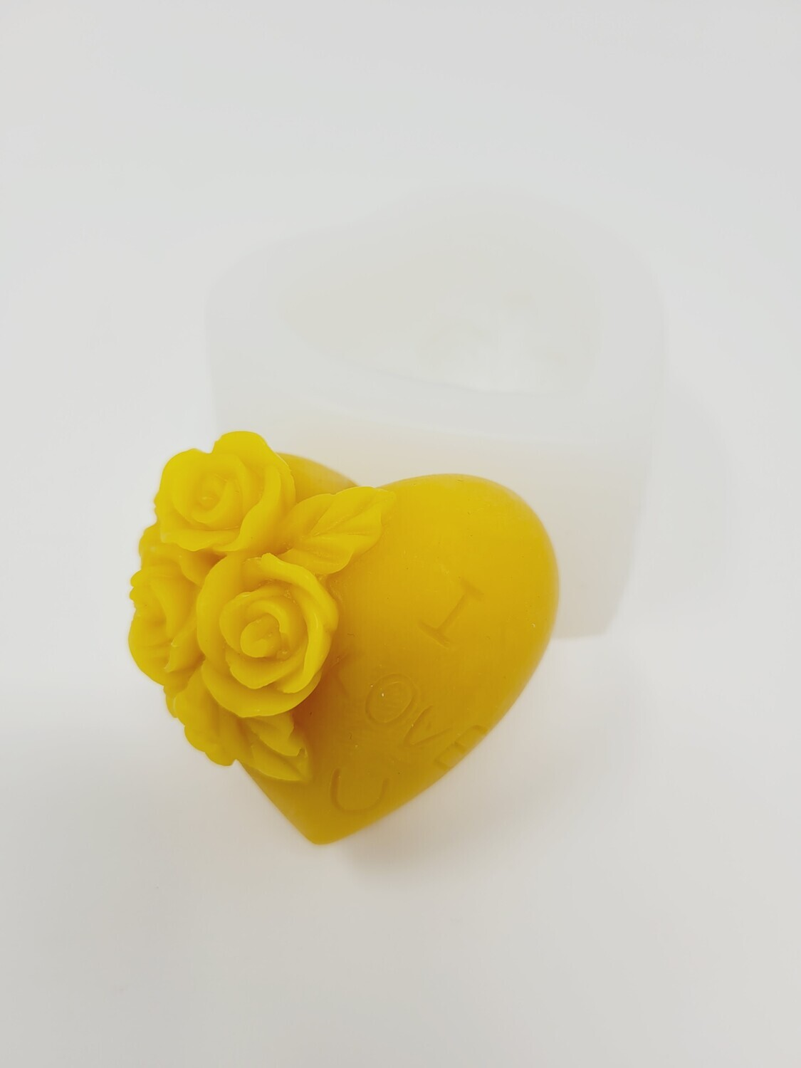 Silicon Mould Soap - Heart & Flowers