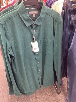 Men's Sea Moss Long Sleeve Shirt by Ike Behar