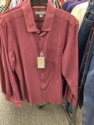Men's Chile Garnet Long Sleeve Shirt by Ike Behar