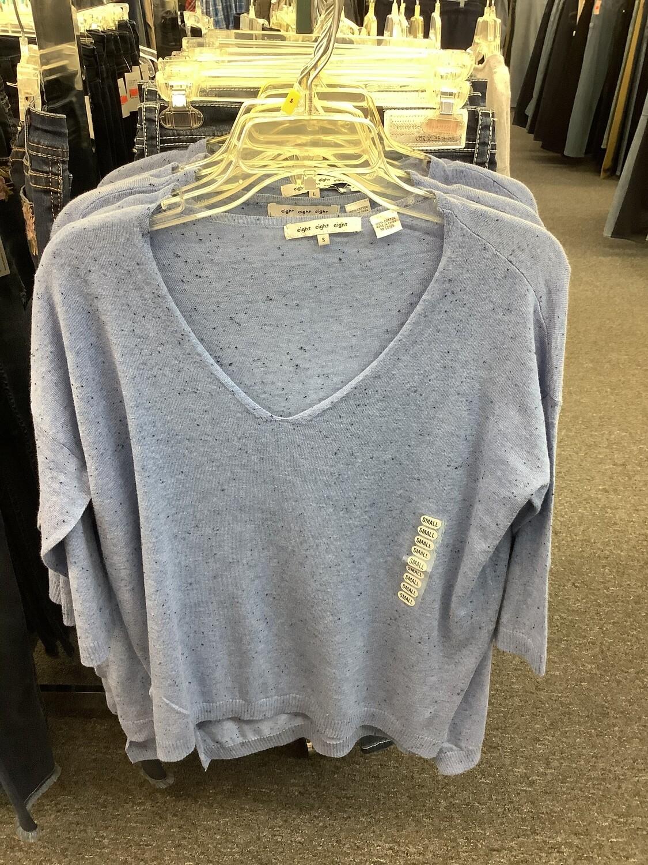 Eight Eight Eight Light Blue Sweater